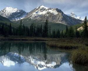 Water Mountain Reflection